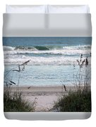 Peace At The Beach Duvet Cover