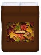 Peace-autumn Duvet Cover
