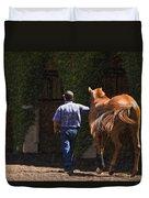 Peace Before The Race - Del Mar Horse Race Duvet Cover
