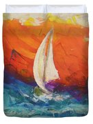 Peace Below The Surface Duvet Cover