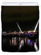 The Peace Bridge At Night Duvet Cover