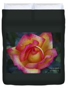 Peace In Floral Format Duvet Cover