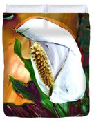Peace Lily 2 Duvet Cover