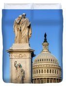 Peace Monument And Capitol Duvet Cover