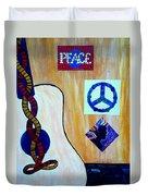Peace - Music Duvet Cover