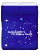 Peace On Earth Card Duvet Cover