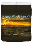 Peace Duvet Cover by Robert Bales