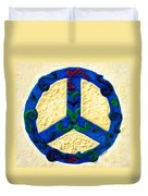 Peace Sign Duvet Cover