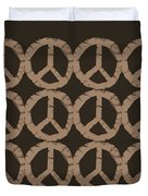 Peace Symbol Collage Duvet Cover