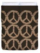 Peace Symbol Collage Duvet Cover by Michelle Calkins