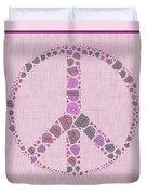 Peace Symbol Design - 42ct2b Duvet Cover