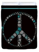 Peace Symbol Design - 87d Duvet Cover by Variance Collections