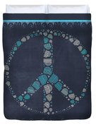 Peace Symbol Design - Btq19at2 Duvet Cover by Variance Collections