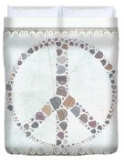 Peace Symbol Design - S76at02 Duvet Cover