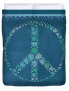 Peace Symbol Design - Tq19at02 Duvet Cover by Variance Collections