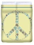 Peace Symbol Design - Y87d Duvet Cover by Variance Collections