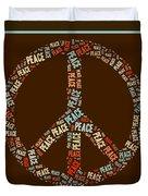 Peace Symbol Retro - 0103b  Duvet Cover