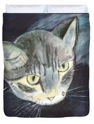 Peace The Cat Duvet Cover