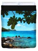 Peaceful Beach St. Thomas Duvet Cover