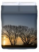 Peaceful Blues And Golds  Duvet Cover