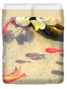 Peaceful Day In The Pond Duvet Cover