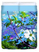 Peaceful Dogwood Spring Duvet Cover