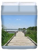 Peaceful Fishing Dock Duvet Cover