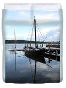 Peaceful Harbor Scene - Ct Duvet Cover