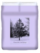 Peaceful Holidays Duvet Cover