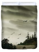 Peaceful Inland Cove Duvet Cover