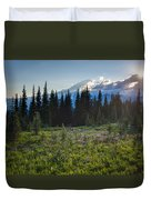 Peaceful Mountain Flowers Duvet Cover