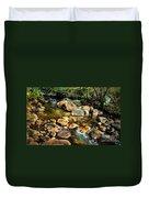 Peaceful Mountain Stream Duvet Cover