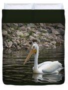 Peaceful Pelican Duvet Cover