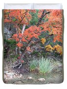 Peaceful Retreat Lost Maples Texas Hill Country Duvet Cover