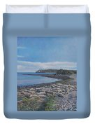 Peaceful View From Peaks Island Me Duvet Cover