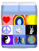 peaceloveunity Mosaic Duvet Cover