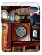 Peacemaker Bus Collage Duvet Cover