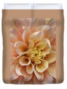 Peach Dahlia Duvet Cover