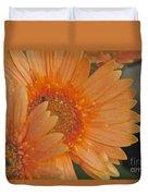 Peach Daisy Cluster Duvet Cover