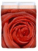 Peach Love Rose Duvet Cover