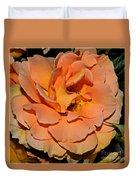 Peach Rose - Digital Paint Duvet Cover