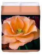 Peach Rose Duvet Cover