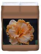 Peach Ruffled Lily Duvet Cover