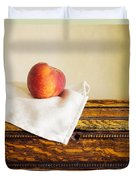 Peach Still Life Duvet Cover