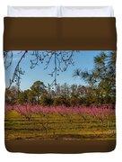 Peach Tree A Bloom Duvet Cover