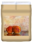 Peach Trio  Duvet Cover