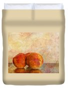 Peach Trio II Duvet Cover