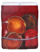 Peaches And Nectarines Duvet Cover