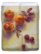 Peaches And Plums Duvet Cover