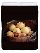 Peaches In A Basket Duvet Cover